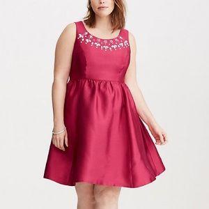 Torrid Embellished Taffeta Party Dress